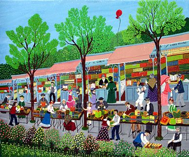 Bookstalls in the Spring by Maria Julia Fraile