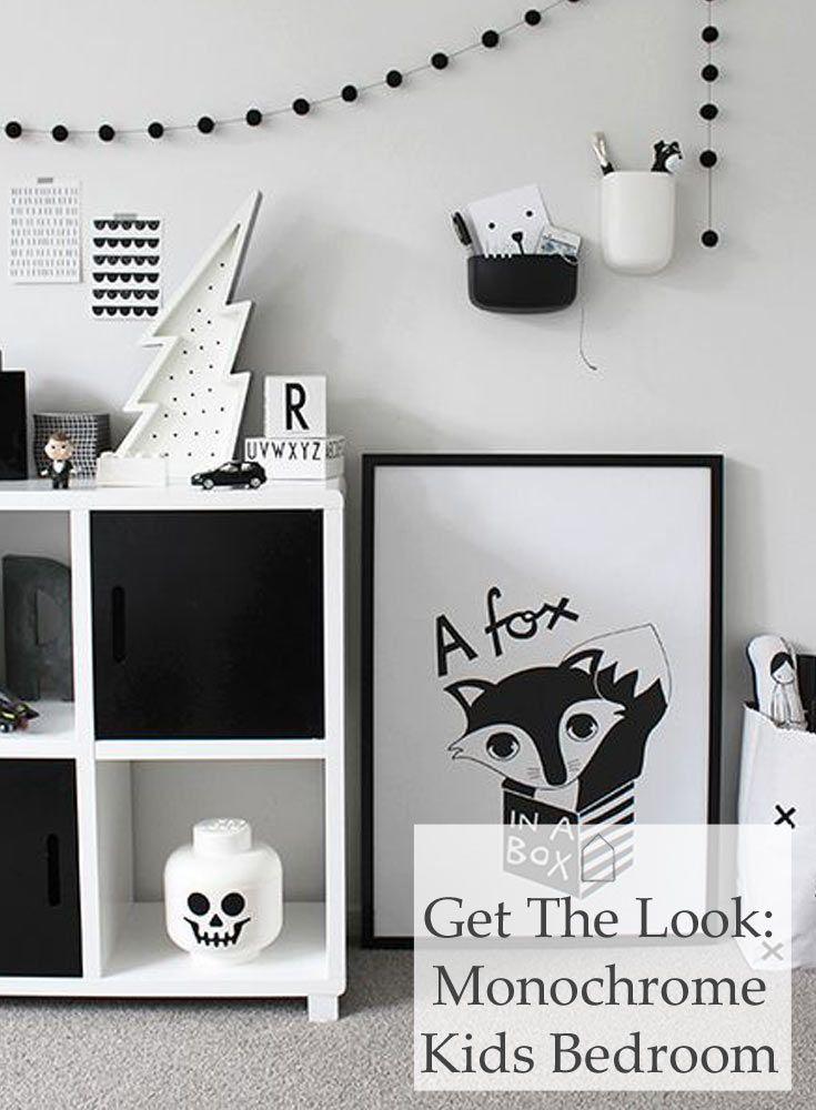 Kids Bedroom Black And White best 25+ monochrome bedroom ideas only on pinterest | black white