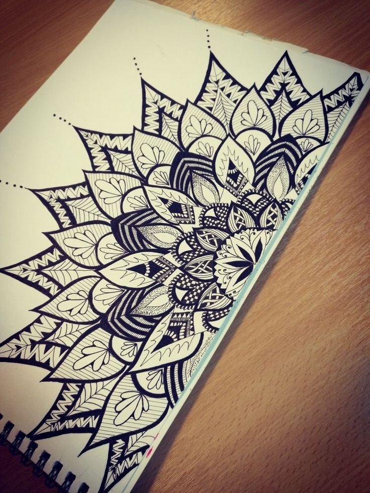 40 Wunderbare Ideen Und Ideen Fur Das Mandala Zeichnen Drawing For Painting N Drawing Trends Mandala Kunstunterricht Strichzeichnung Kunst Mandala Kunst