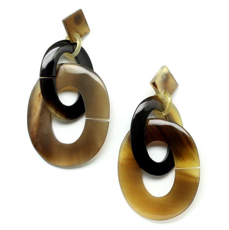 Gorgeous handmade earrings handmade of buffalo horn. Watch our Buffalohorn jewelry collection now!