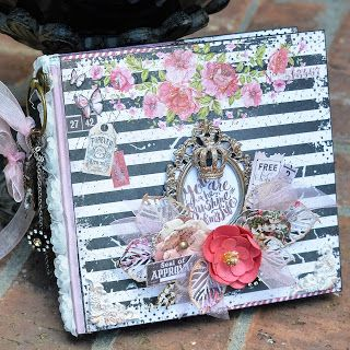 Mini Album using the Flying Unicorn September KOM with the Prima Marketing Rossibelle Collection