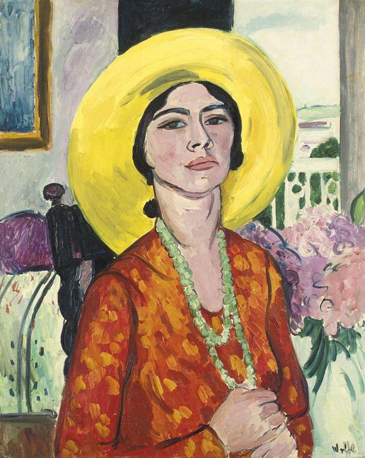 Edward Wolfe (South African, 1897-1982), The Yellow Hat (Mrs Geoffrey Garrat), 1933. Oil on canvas