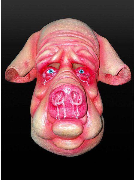 """https://11ter11ter.de/30070996.html Latex Überziehmaske """"Seuchenschwein"""" für Erwachsene #11ter11ter #Maske #Latex #Tiermaske #Tier #Mask #Animal #Kostüm"""