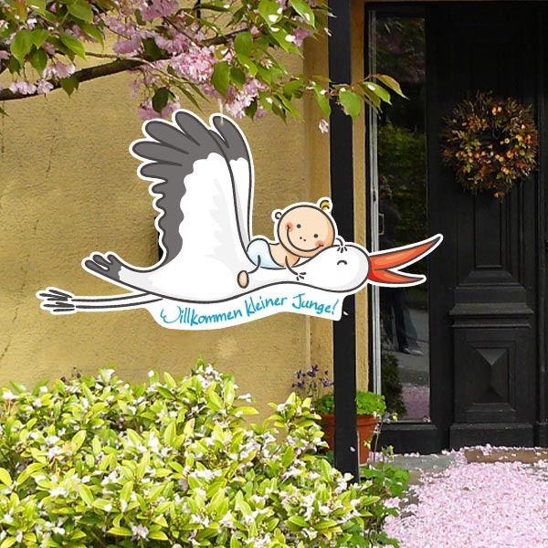 Willkommen Baby Storch Fur Junge Madchen Oder Zwillinge Willkommen Baby Storch Zur Geburt Willkommen Baby Madchen