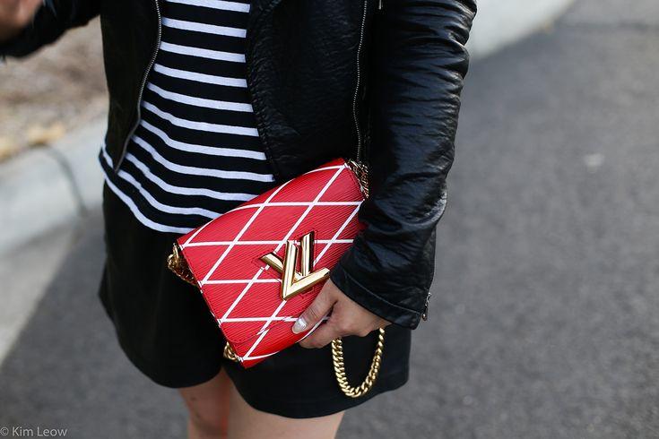 LV twist bag in Red and Stripes | Wardrobe basics   #LV #redbag #louisvuitton #stripes