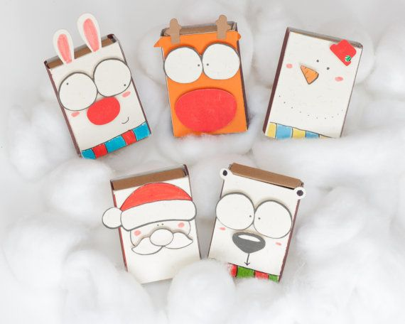 DIY Holiday Cards Set of 5 / Personalized Christmas di shop3xu