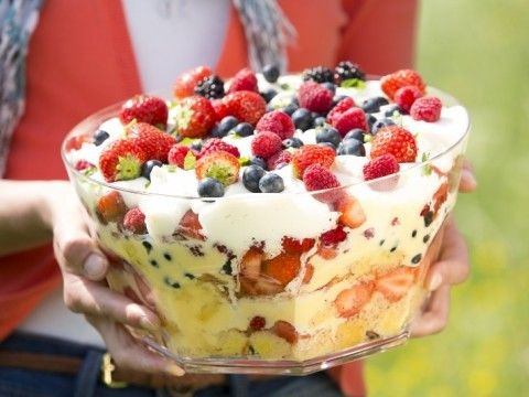 zomerse trifle