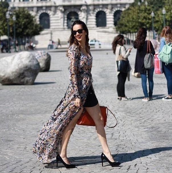 3 4 sleeve long maxi dress zara