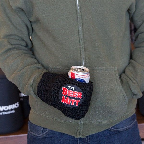 Keep your hand warm and your beer cold with the Beer Mitt – the world's first beer koozie glove!