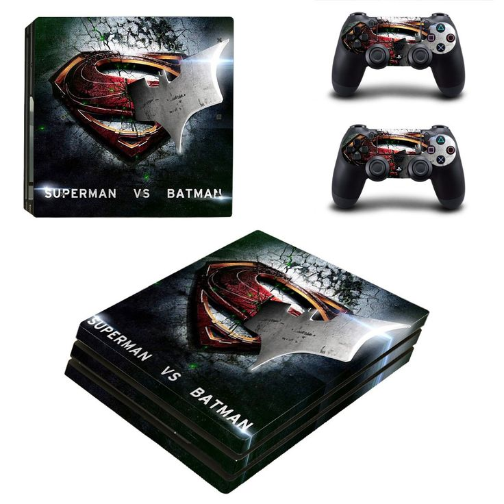Superman VS Batman Ps4 pro edition skin decal for console and controllers