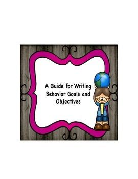 Are you tired of poorly written goals and objectives? Purchase this easy step by step method in writing proper goals and objectives.  This form will guide you on the correct way to write goals and objectives for your students.  This technique was taught to us in one of my graduate level course in special education.
