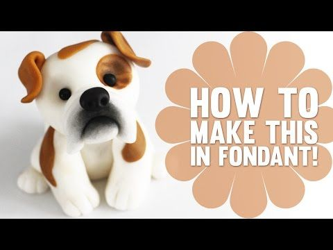 Super Speed Video - How to create a cute Bulldog Cake Topper - YouTube