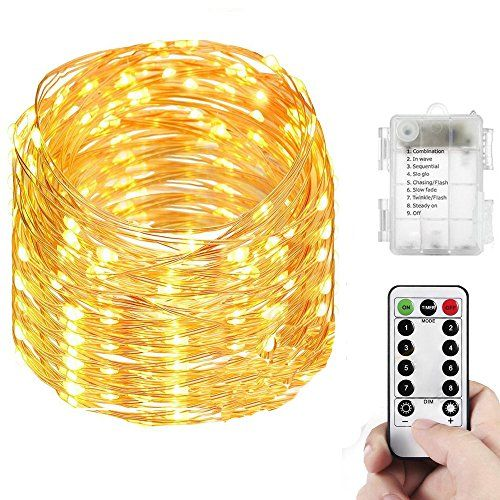 Yenl LED Mini Battery String Lights, 20 Feet,Warm White - Energy-saving The product has a low level of power consumption and contributes to the green recyclable environment. The string light help save your money while maintain its beauty and radiance. This light has a high level brightness and a pure radiance which steadily lasts even on rainy days or i...