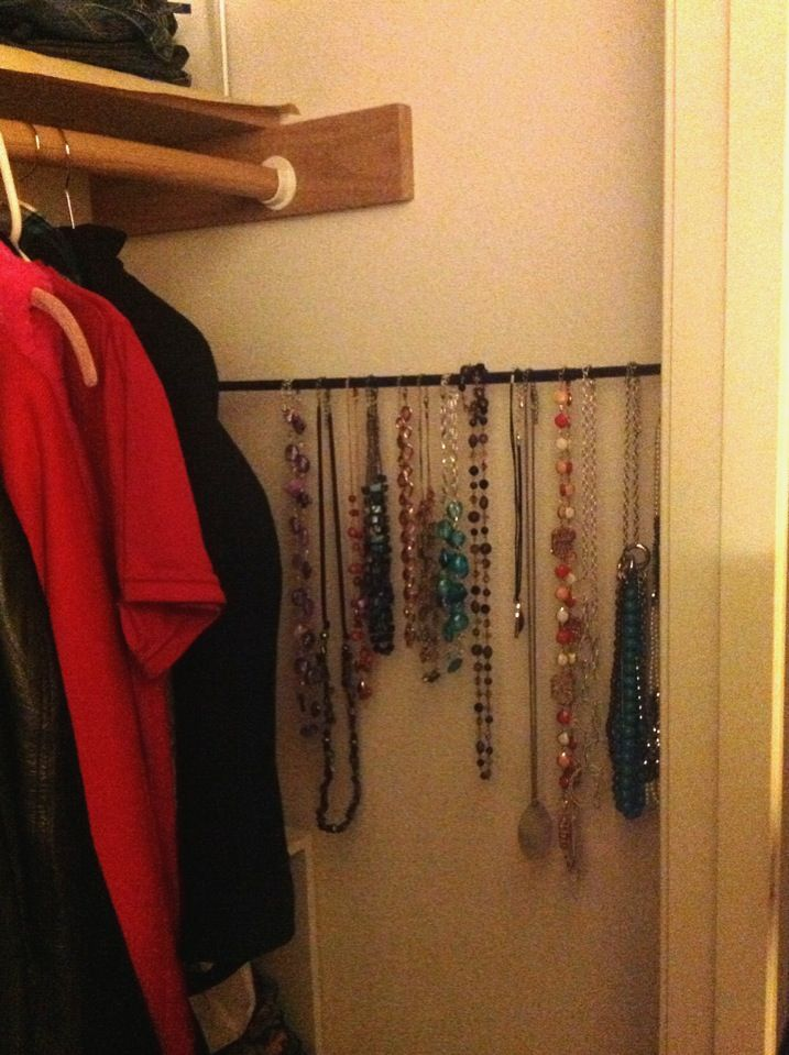 24 Insanely Awesome Ways to Use Tension Rods in Your Home (Jewelry Organizer AND MORE)