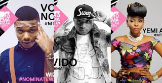 TOP NAIJA CELEBRITY GIST : Davido, Yemi Alade, AKA battle for Best African Ac...