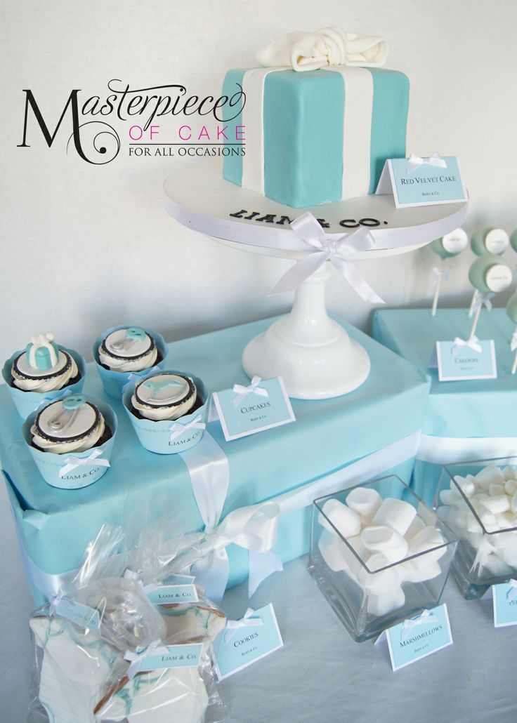 Tiffany U0026 Co Inspired Baby Shower Dessert/sweet Table. Tiffany And Co Party  Ideas