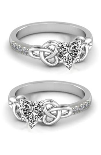 Heart Celtic Knot Engagement Ring