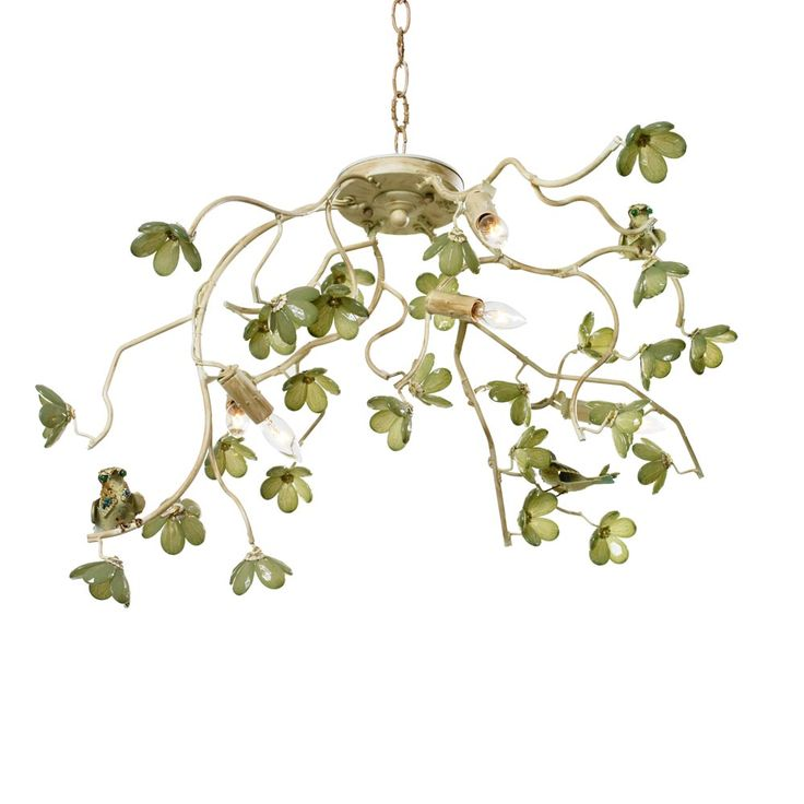 Ornella Birds And Flowering Branches Ceiling Mount Chandelier In Custom  Colors    The Ornella Birds And Flowering Branches Chandelier Is Free Form  And ... Nice Ideas
