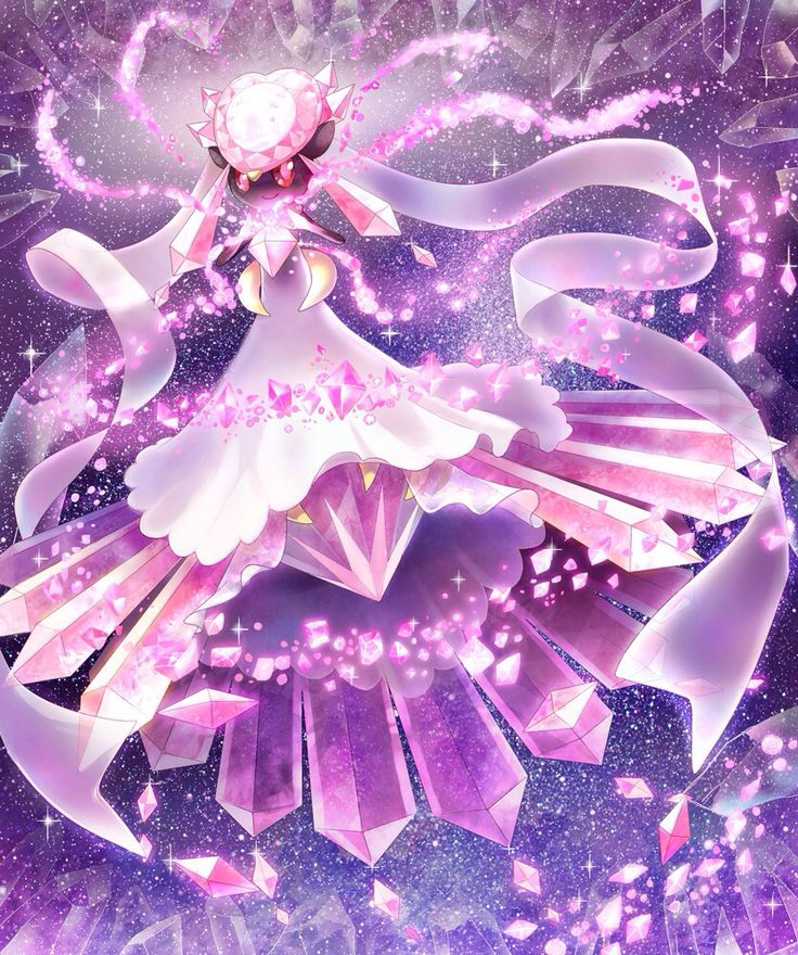 mega diancie. Its my favorite pokemon from my team. It has magic strenght and cool moves. Lv. 100 moves: Diamond storm, Dazzling cleam, stone edge and my favorite move MOONBLAST. Fairy type is also my favorite type.