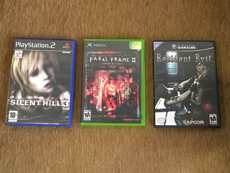 Resident evil Remake, Fatal Frame 2, & Silent Hill 3 are my most favorite survival horror video games of all time! 😈