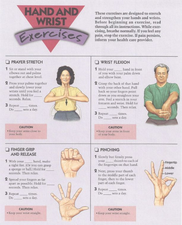 Hand And Wrist Exercises These Exercises Are Designed To
