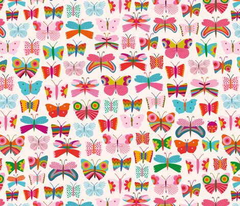 Mariposa fabric by simply_colours on Spoonflower - custom fabric