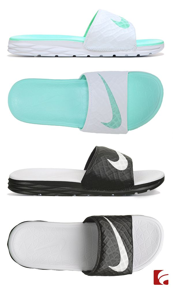 Your new go-to sandal for the summer! The Nike Benassi Solarsoft slide is so simple, yet so universal. Dress up for a laid-back summer style or dress down for a sporty look.
