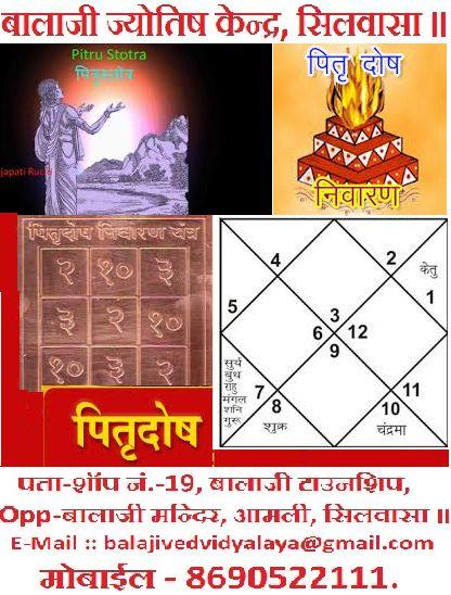 Veda, Vastu & Astro Classes, Silvassa.: पितृ दोष के लक्षण - पार्ट - १. Pitru Dosha, Part -...