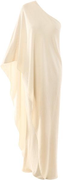 Silk One Shouldered Dress