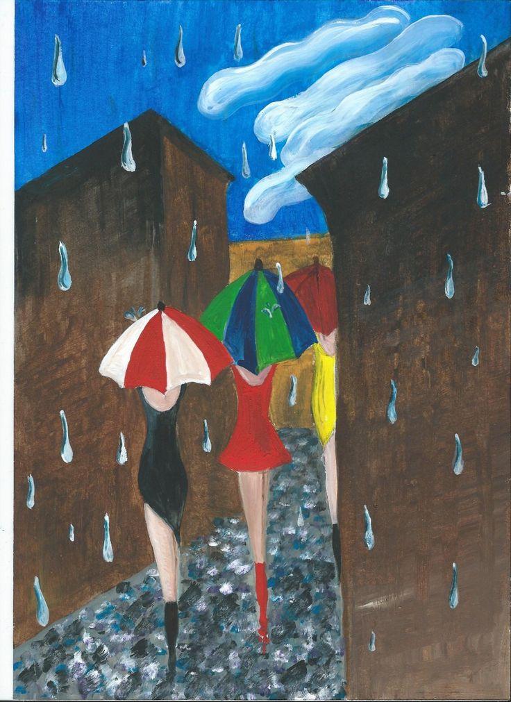 v dešti/ in the rain
