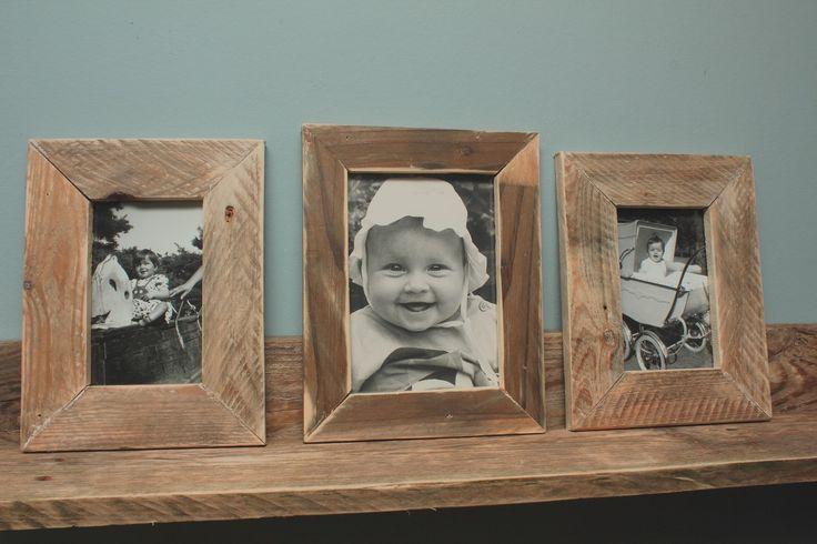 Fotolijsten van gebruikt pallethout