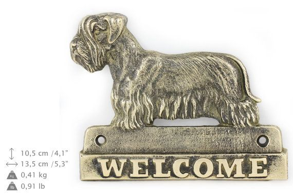 Cesky Terrier dog welcome hanging decoration by ArtDogshopcenter
