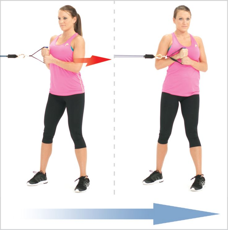 Resistance Bands Effective: Super Effective Standing Abs Twist With Resistance