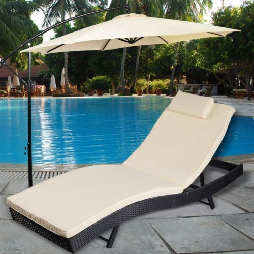 Amazing Adjustable Pool Chaise Lounge Chair Outdoor Patio Furniture PE Wicker  W/Cushion. Backyard ... Nice Design
