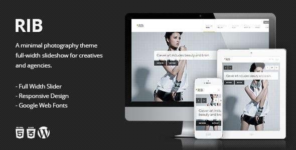 RIB - Responsive Photography #Wordpress #Responsive Template - #html5 #css3 #jquery slider ready Creative