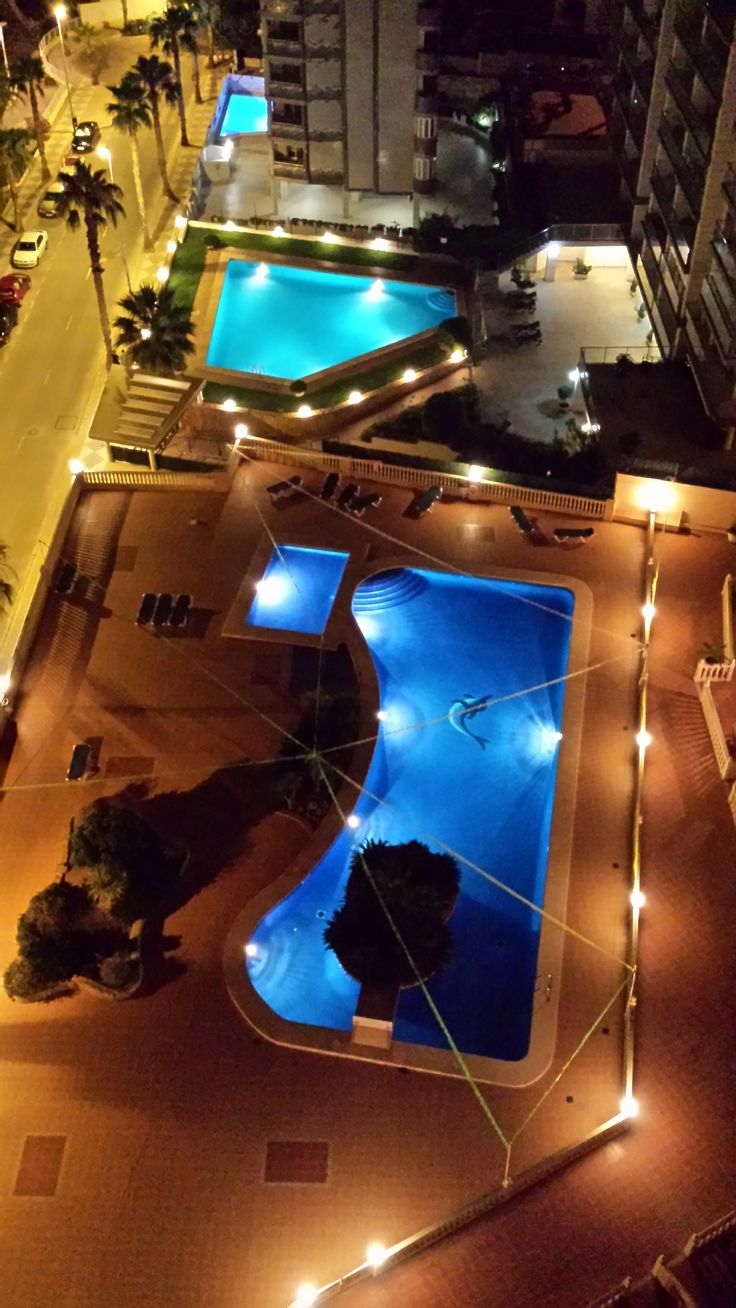 The pools during night time. www.wonderful-calpe.webs.com