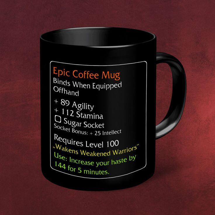 Epic Coffee Mug Epischer Kaffeebecher MMO Item Tasse für World of Warcraft Fans in PC- & Videospiele, Merchandising | eBay