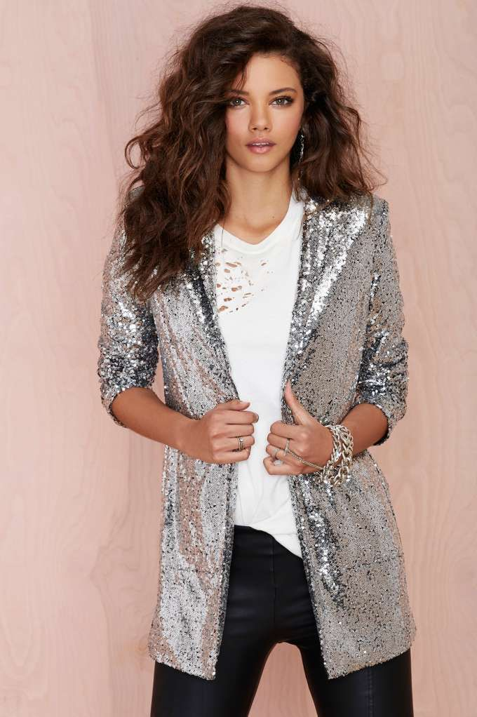 Nasty Gal Hustle Sequin Blazer | Shop The Party Shop at Nasty Gal