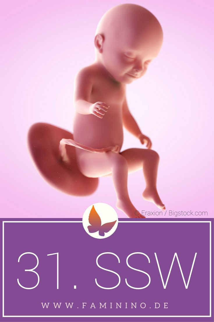 31. SSW (Schwangerschaftswoche): Dein Baby, dein Körper, Beschwerden und mehr