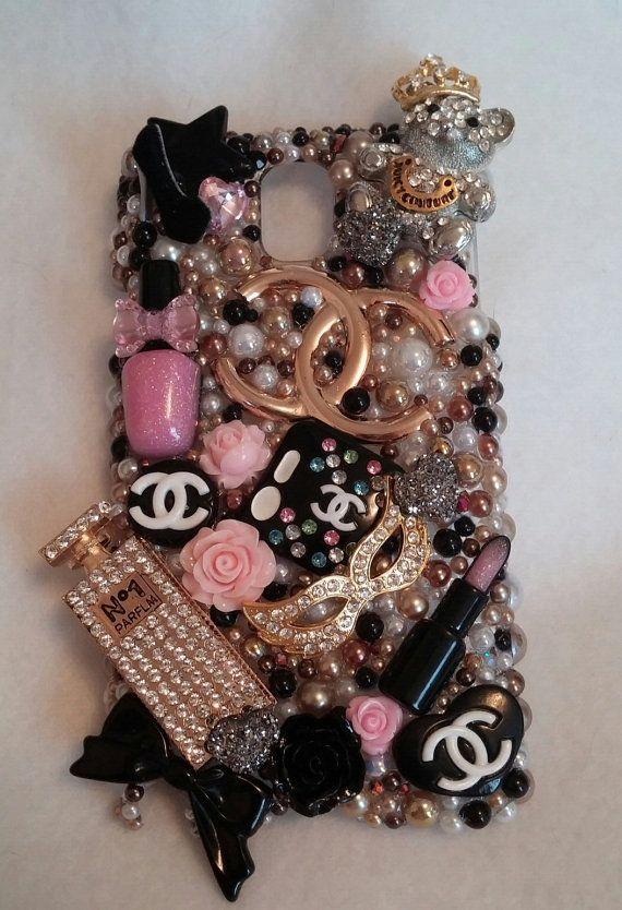 GOLD BLISS BLING Make Up Diva Perfume Bottle Samsung iPhone Case Note 2 3 4 4s 5 5s 5c