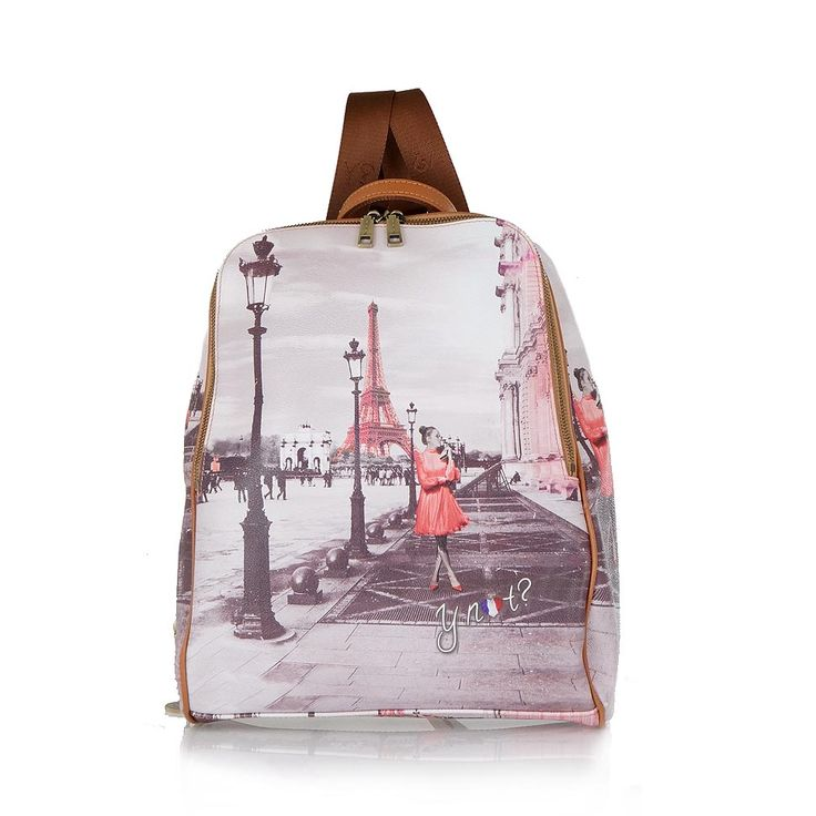 BACKPACK MOD: A681F3339 - Y-NOT Κοραλί πολύχρωμη τσάντα πλάτης