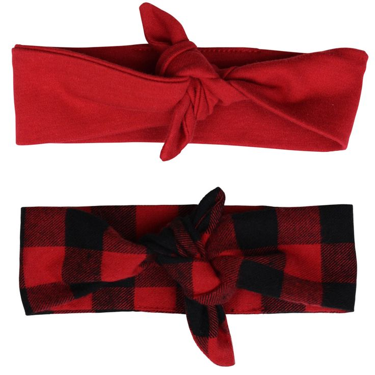 This 2-Piece Buffalo Plaid and Red headwrap set is the perfect compliment to items in juDanzy's Big Bear collection. Finish your little one's head to toe look with this trendy set.