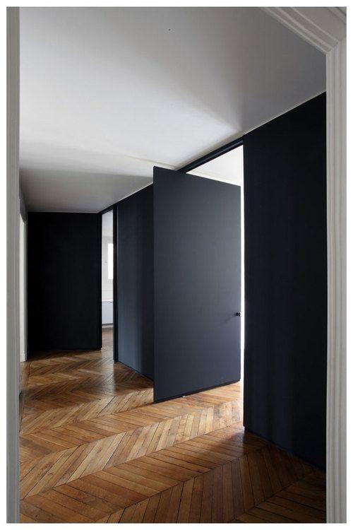 Charcoal door / wood/ white