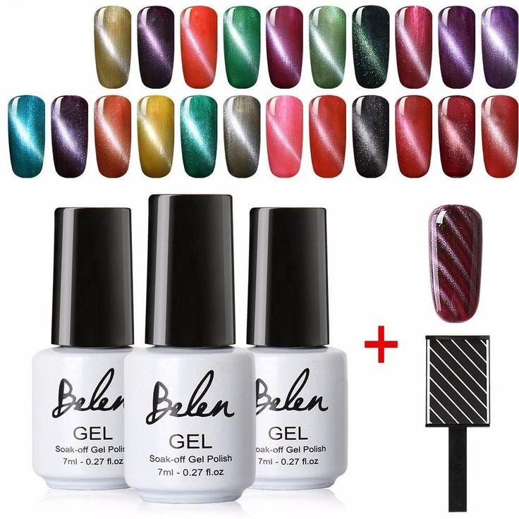Mejores 9 imágenes de Nail Art Gel Polish No Clean Top Coat Base Set ...