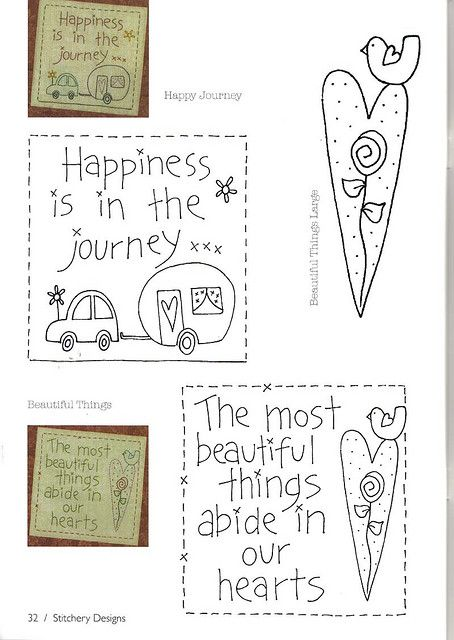 Happy Journey and Beautiful Things patterns