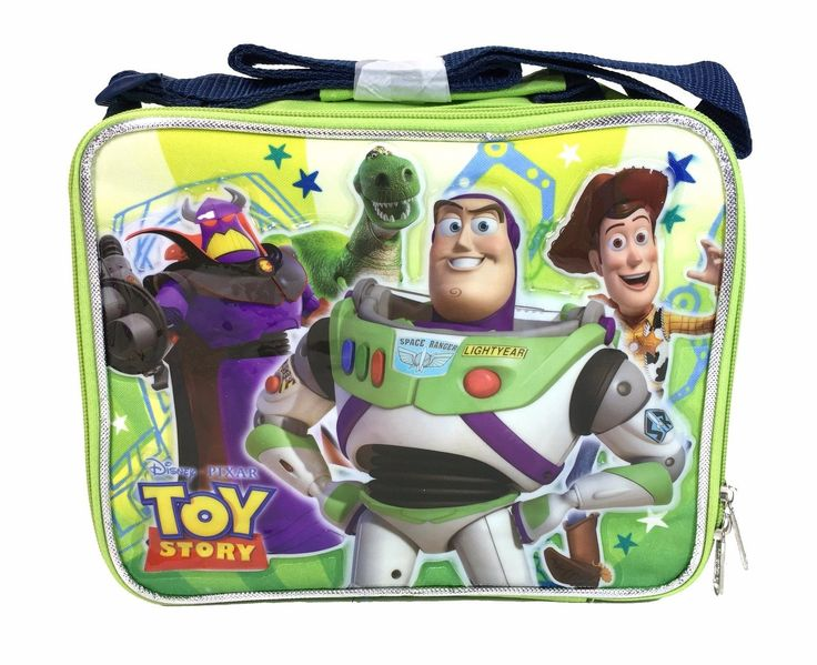 Disney Toy Story Boys Green Insulated Lunch Bag Woody, Buzz Light Year