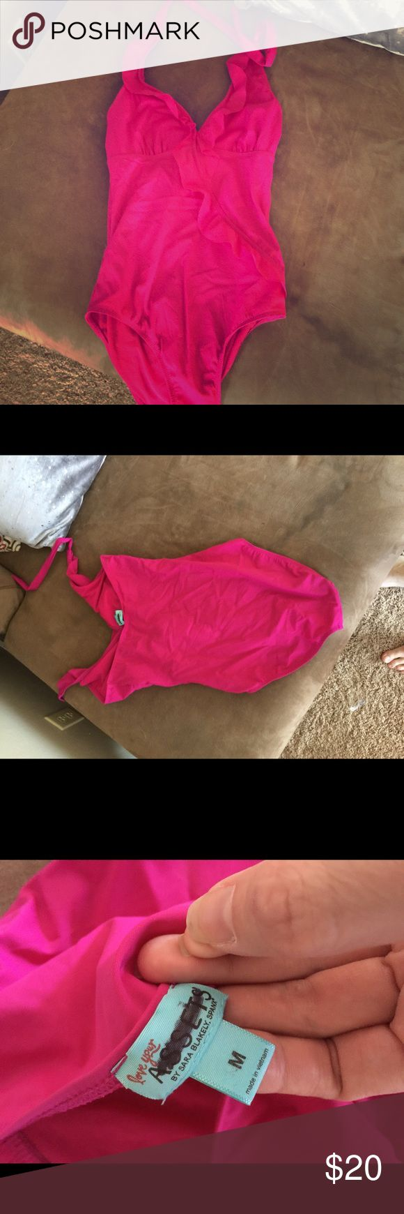 """Spanx Size M """"Love Your Assets"""" one-piece suit This is a size M Spanx """"Love Your Assets"""" suit. I bought this from Poshmark but apparently I have an over abundance of """"assets!"""" 😂 My loss is your gain. There are zero flaws and the color is perfection. SPANX Swim One Pieces"""