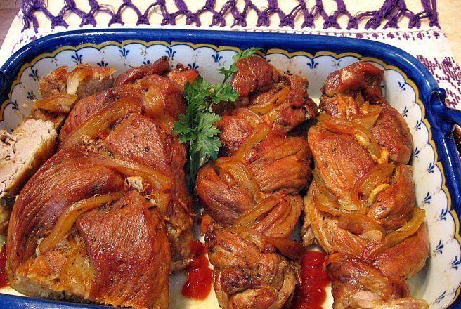 Retete Culinare - Muschiulet de porc impletit