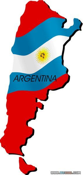 map flag vector ARGENTINA
