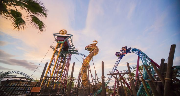 Cobra's Curse is a one-of-a-kind family spin coaster.